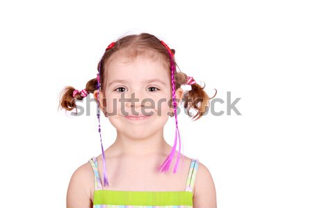 little girl with pigtails portrait Stock photo © goce