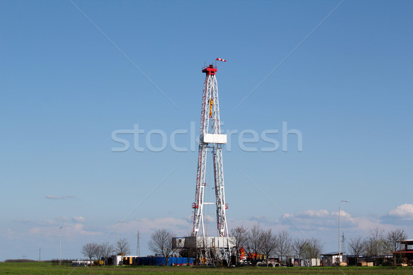 oil drilling rig on field Stock photo © goce