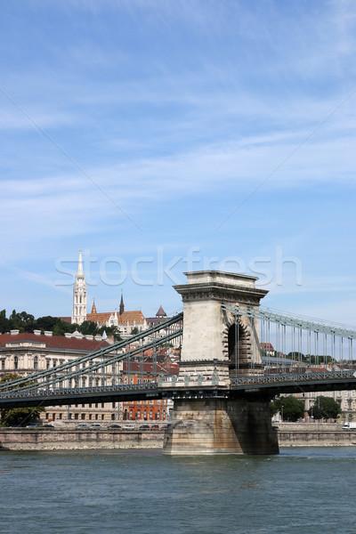 famous chain bridge Budapest Hungary Stock photo © goce