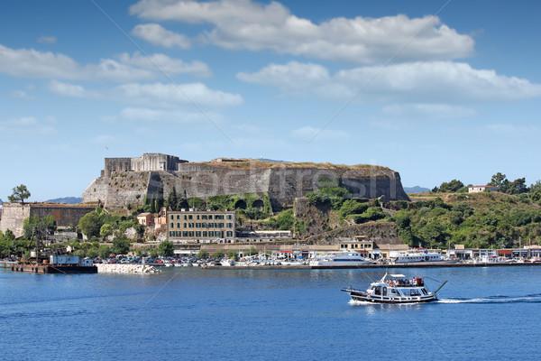 новых крепость порта города Греция воды Сток-фото © goce