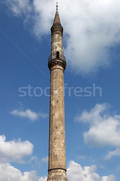 ünlü minare işaret seyahat taş mimari Stok fotoğraf © goce