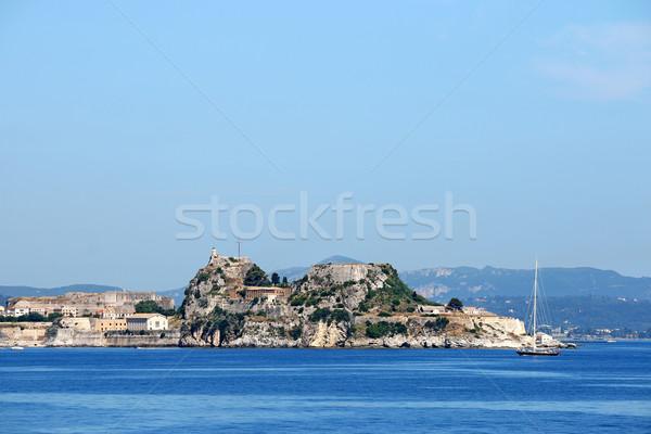 Vieux forteresse colline ville Grèce été Photo stock © goce