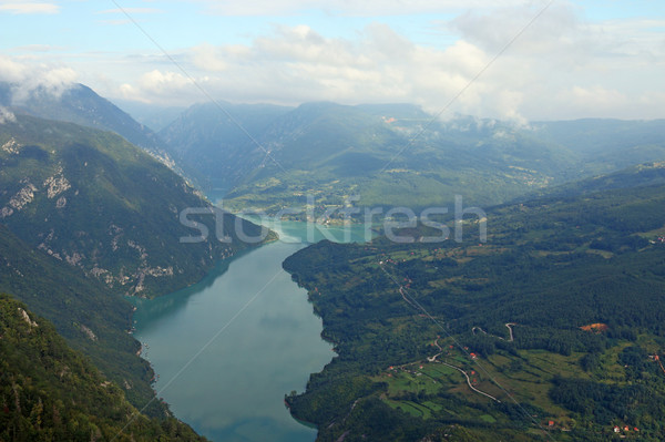 Tara mountain famous viewpoint Banjska stena Stock photo © goce