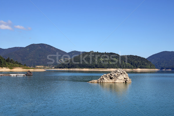 Zaovine lake Tara mountain landscape Stock photo © goce