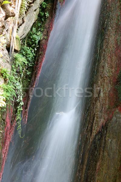 Waterval natuur achtergrond berg rivier witte Stockfoto © goce