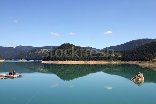 Lago montanha Sérvia paisagem viajar rocha Foto stock © goce
