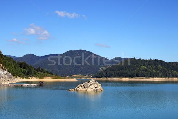 Zaovine lake on Tara mountain nature landscape Stock photo © goce