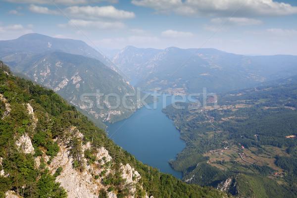 Dağ Sırbistan orman manzara yaz mavi Stok fotoğraf © goce