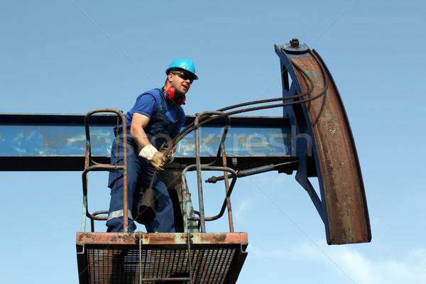 worker working in the oil field Stock photo © goce