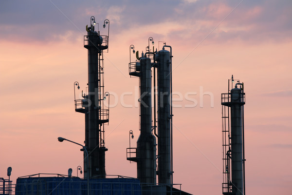 petrochemical plant industry zone twilight Stock photo © goce
