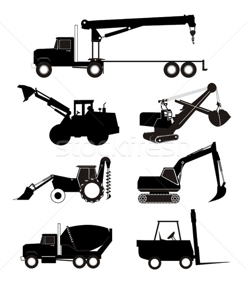 industry vehicle silhouette Stock photo © goce