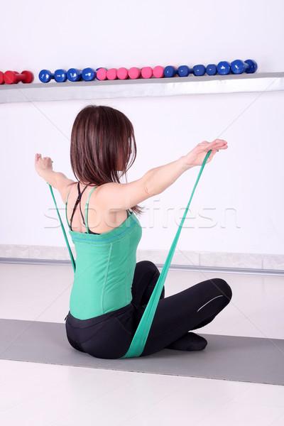 girl fitness exercise backside healthy lifestyle Stock photo © goce