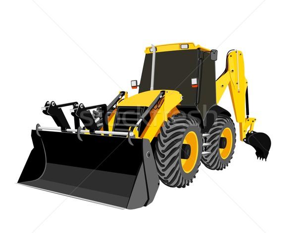 earth-moving bulldozer vector Stock photo © goce