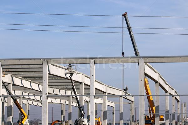 Macchine lavoratori costruzione lavoro frame Foto d'archivio © goce