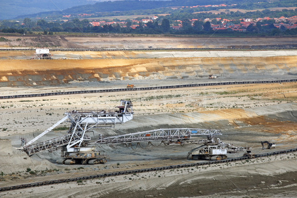 open pit coal mine mining industry Stock photo © goce
