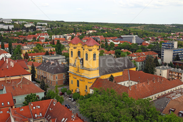 Old city Eger Hungary cityscape Stock photo © goce