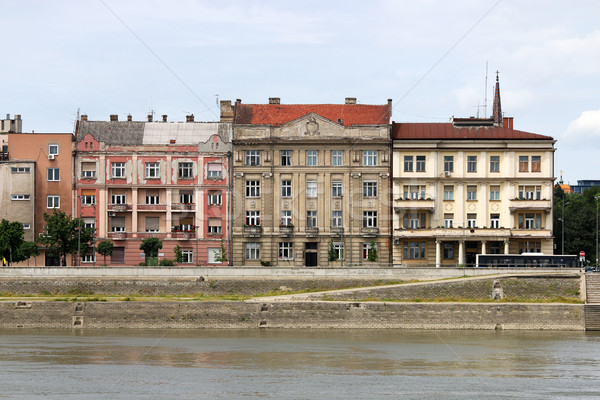 Old buildings on Danube riverside Novi Sad Serbia Stock photo © goce