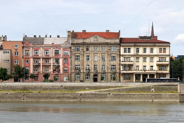 Velho edifícios danúbio triste Foto stock © goce