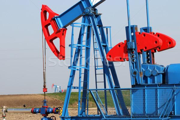 Olie-industrie pompen technologie Blauw energie Stockfoto © goce