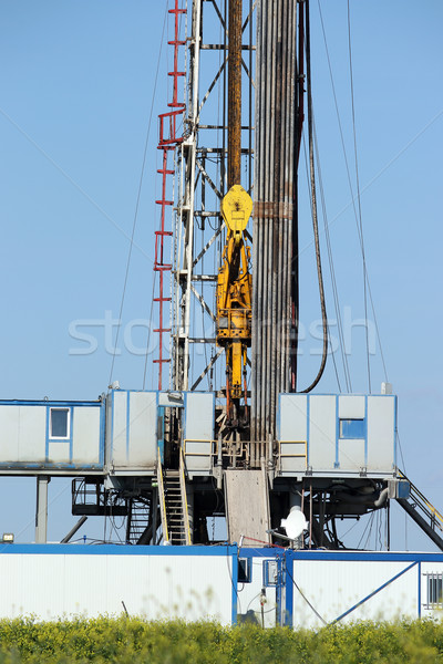 top drive system oil drilling rig Stock photo © goce