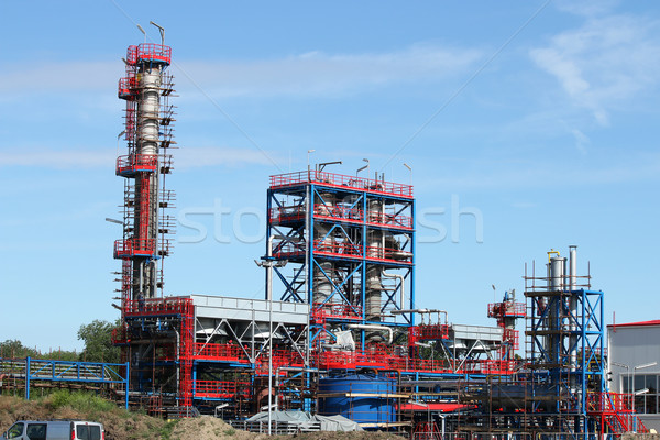 petrochemical plant oil industry construction site Stock photo © goce