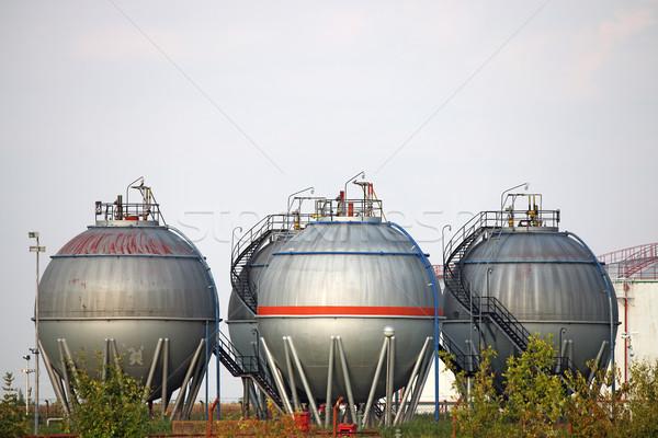 Quatre pétrolières domaine technologie pouvoir gaz Photo stock © goce