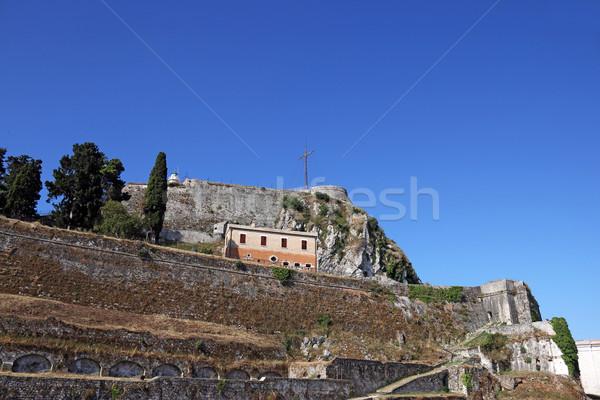 старые крепость острове Греция путешествия рок Сток-фото © goce