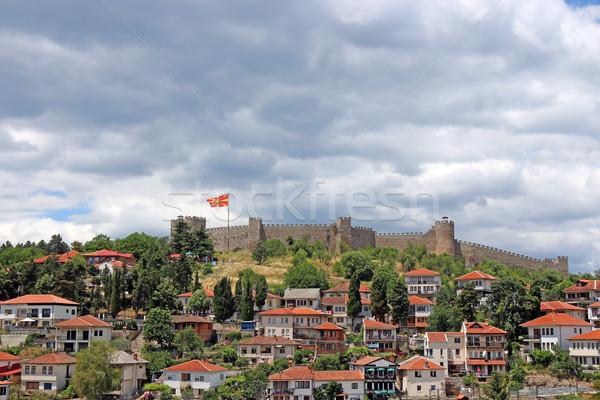Forteresse cityscape Macédoine bâtiment ville mur Photo stock © goce