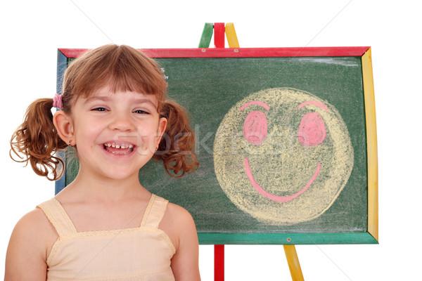 Zdjęcia stock: Szczęśliwy · dziewczynka · uśmiech · dziecko · piękna