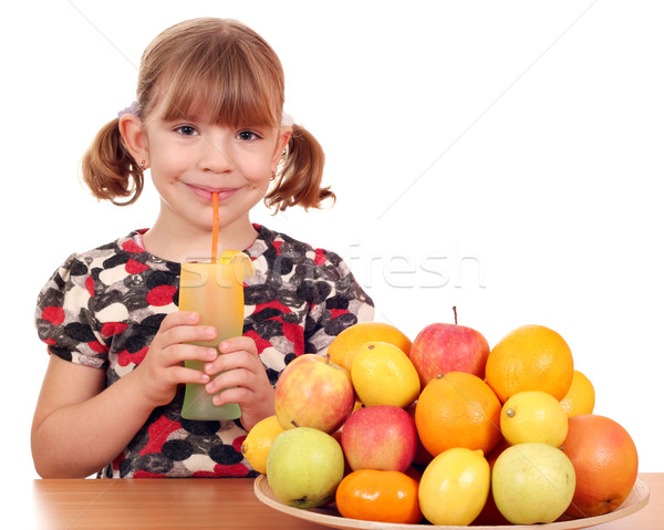 happy little girl drink lemonade Stock photo © goce