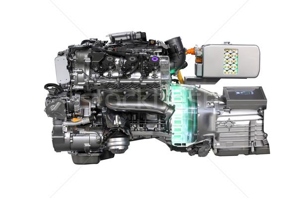 Araba melez motor yalıtılmış teknoloji hızlandırmak Stok fotoğraf © goce
