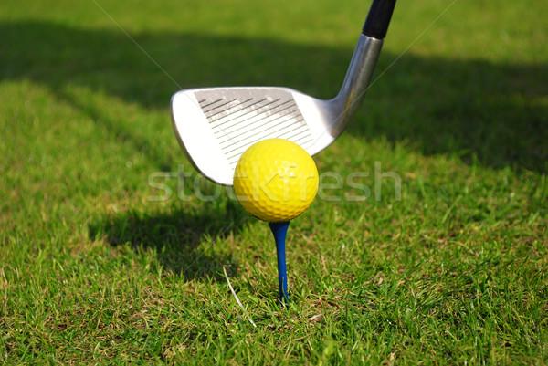 yellow golf ball Stock photo © goce