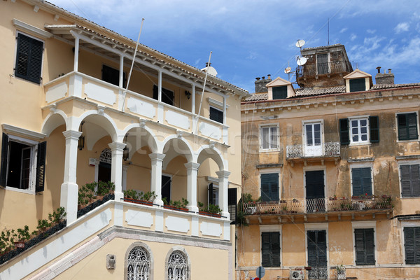 old buildings Corfu town Greece Stock photo © goce