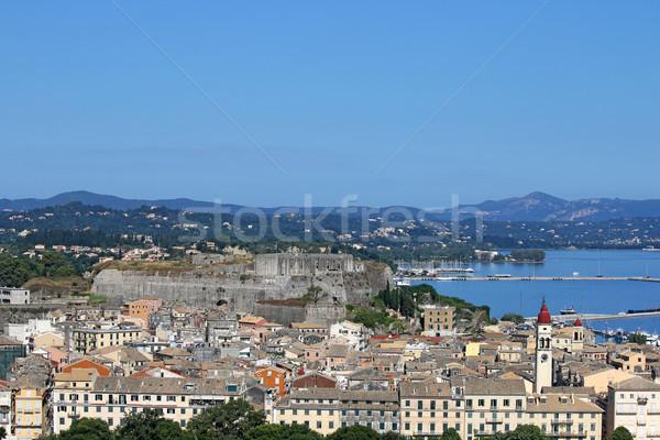 Ville nouvelle forteresse cityscape été saison Photo stock © goce