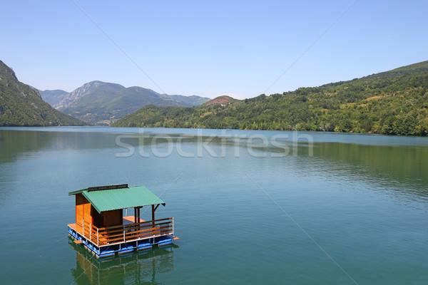 Casa río Serbia agua Foto stock © goce