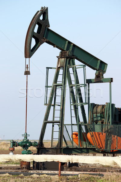 pump jack close up oil industry Stock photo © goce