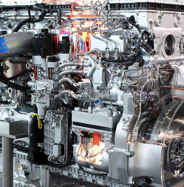 heavy truck engine detail transport  Stock photo © goce