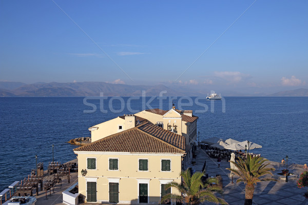 ferry boat sailing near Corfu town Greece Stock photo © goce