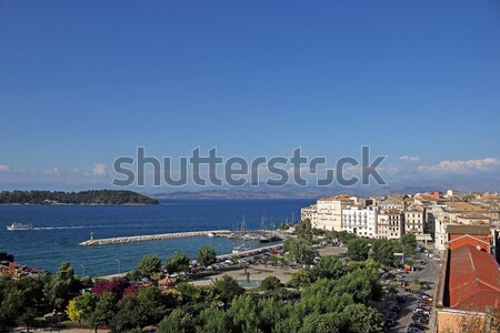 old port and square Corfu town Greece Stock photo © goce