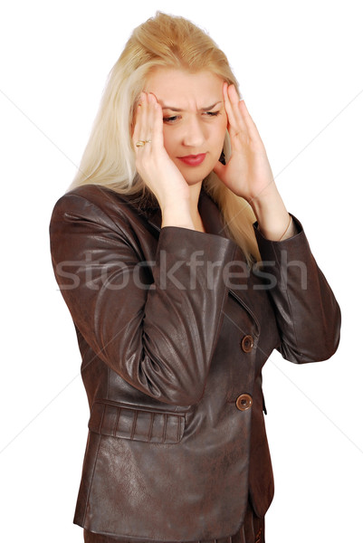 woman with severe headache Stock photo © goce