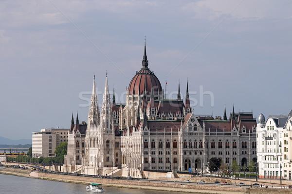 Ungherese parlamento costruzione danubio fiume Budapest Foto d'archivio © goce