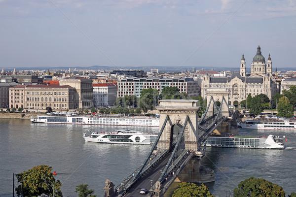 クルーザー チェーン 橋 ブダペスト 市 旅行 ストックフォト © goce