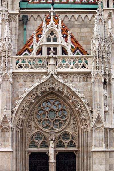 St.Matthias church detail Budapest Hungary Stock photo © goce