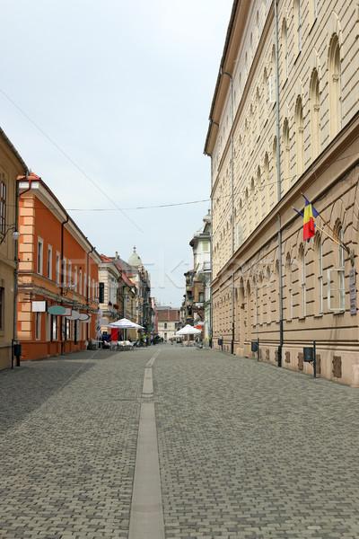 Oude binnenstad straat Roemenië gebouw architectuur mooie Stockfoto © goce