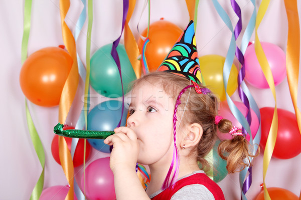 little girl birthday party Stock photo © goce