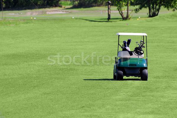 golf buggy on golf field Stock photo © goce