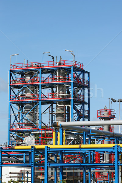 new petrochemical plant oil and gas industry Stock photo © goce