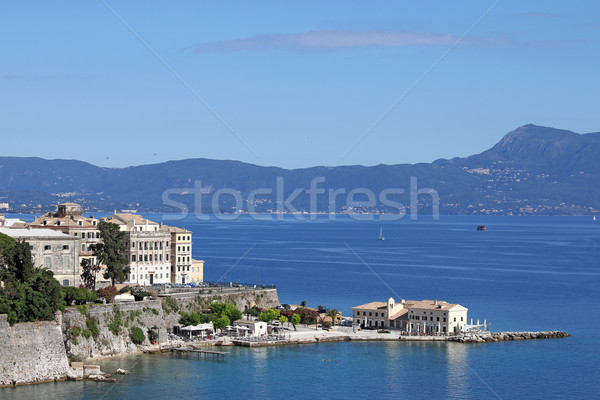 Corfu town and sea landscape Greece Stock photo © goce