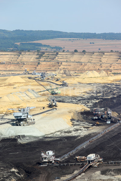 Open pit coal mine with excavators Kostolac Serbia Stock photo © goce