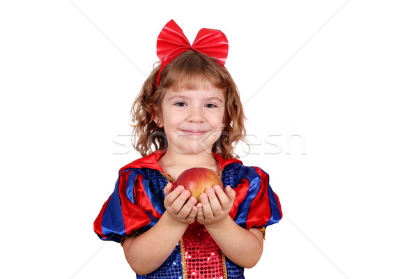 snow white little girl Stock photo © goce
